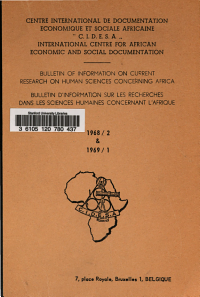 Bulletin of Information on Current Research on Human Sciences Concerning Africa PDF