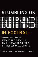 Stumbling On Wins in Football PDF