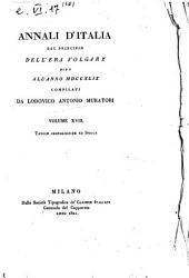 Annali d'Italia dal principio dell'era volgare sino all'anno 1749 compilati da Lodovico Antonio Muratori. Volume 1.[-18.]: Tavole cronologiche ed indice, Volume 1
