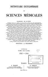 Dictionnaire encyclopédique des sciences médicales: Volume38