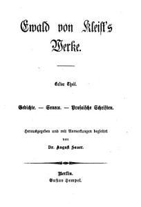 Ewald von Kleist s Werke PDF