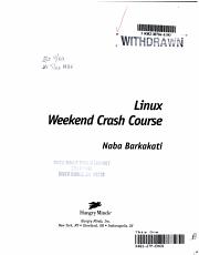Linux Weekend Crash Course PDF