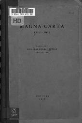 Magna Carta, 1215-1915: An Address