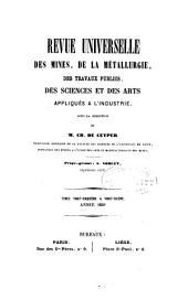 Revue Universelle des Mines, de la Métallurgie, des Travaux Publics, des Sciences et des Arts Appliqués à l'Industrie: Volumes25à26