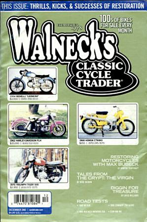 WALNECK S CLASSIC CYCLE TRADER  DECEMBER 2002 PDF