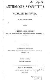Anthologia Sanscritica: glossario instructa, in usum scholarum