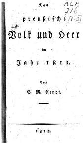 Das preussische Volk und Heer im Jahr 1813: Band 3