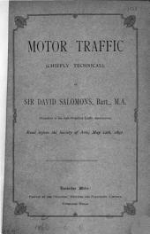 Motor Traffic (chiefly Technical)