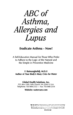 ABC of Asthma  Allergies and Lupus PDF