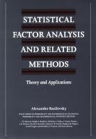 Statistical Factor Analysis and Related Methods PDF