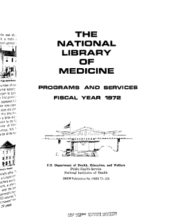 National Library of Medicine programs and services  1972 PDF