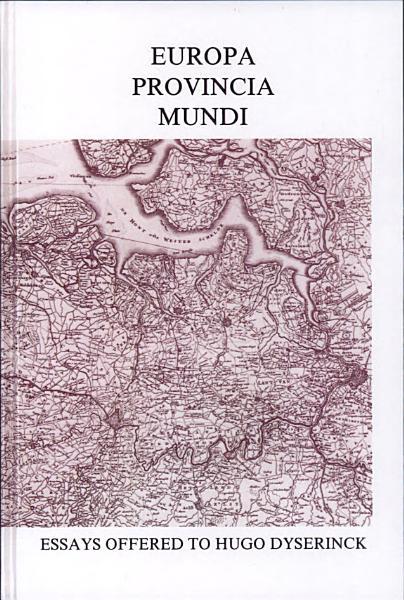 Download Europa Provincia Mundi  Book