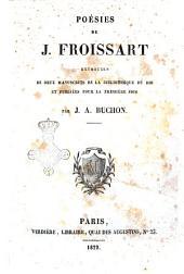 Poesies de J. Froissart