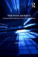 With Words and Knives PDF