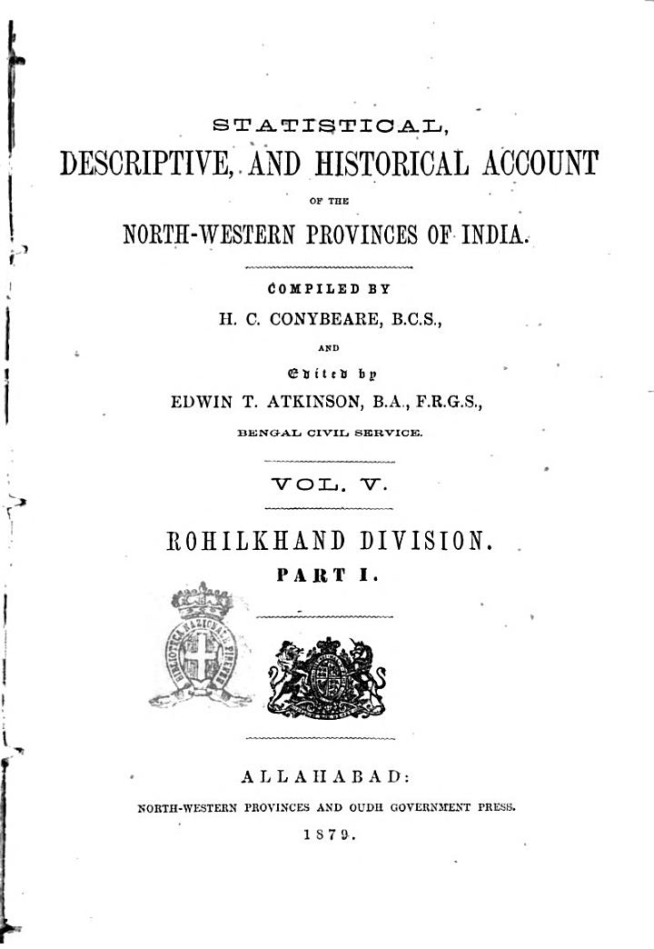 Statistical, Descriptive and Historical Account of the North-Western Provinces of India