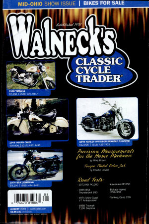 WALNECK S CLASSIC CYCLE TRADER  AUGUST 2001 PDF