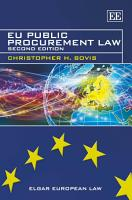 EU Public Procurement Law PDF