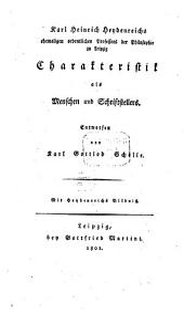 Karl Heinrich Heydenreichs ... Charakteristik als Menschen und Schriftstellers