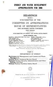 Energy and Water Development Appropriations for 2006 PDF