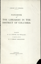 Handbook of the libraries in the District of Columbia