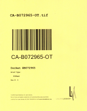 California. Court of Appeal (2nd Appellate District). Records and Briefs: B072965, Other