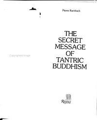 The Secret Message of Tantric Buddhism PDF