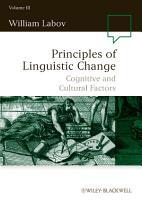 Principles of Linguistic Change  Volume 3 PDF