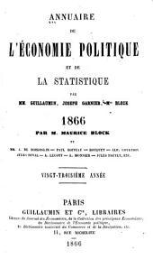 Annuaire de l'économie politique et de la statistique: Volume23
