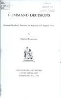 General Bradley s Decision at Argentan  13 August 1944  PDF