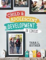 Child and Adolescent Development in Context PDF