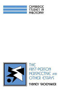 The First Person Perspective and Other Essays PDF