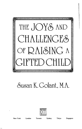 The Joys and Challenges of Raising a Gifted Child PDF