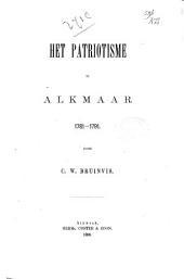 Het patriotisme te Alkmaar, 1781-1791