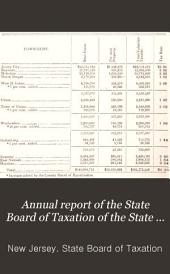 Annual Report of the State Board of Taxation of the State of New Jersey for the Year ...