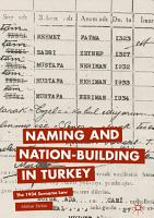 Naming and Nation building in Turkey PDF