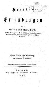 Handbuch der Erfindungen: Band 10