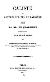 Caliste, ou Lettres écrites de Lausanne