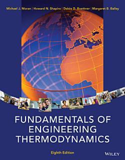 Fundamentals of Engineering Thermodynamics  8th Edition Book