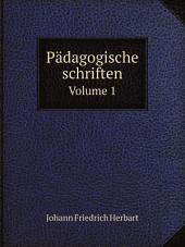 P?dagogische schriften