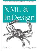 XML and InDesign PDF