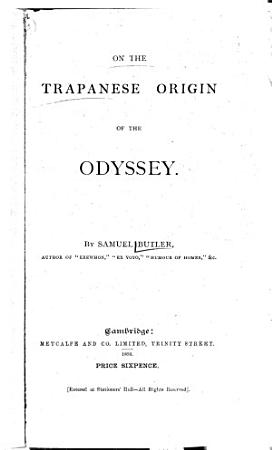 On the Trapanese Origin of the Odyssey PDF