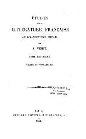 Etudes sur la littérature française au XIXe siècle par A. Vinet