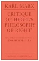 Critique of Hegel s  Philosophy Of Right  PDF