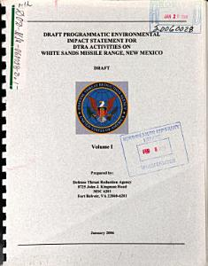 DTRA Activities on White Sands Missile Range Book