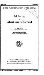 Soil Survey of Calvert County, Maryland