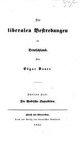 Die liberalen Bestrebungen in Deutschland: Band 1