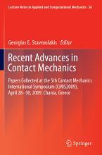 Recent Advances in Contact Mechanics PDF