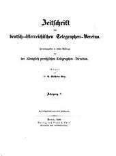 Zeitschrift des Deutsch-Österreichischen Telegraphen-Vereins: Band 5