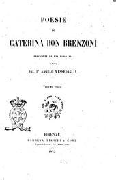 Poesie di Caterina Bon Brenzoni precedute da una biografia scritta dal dr. Angelo Messedaglia