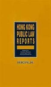 Hong Kong Public Law Reports, Vol.1 (1991)